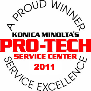 Konica Minolta Pro-Tech Service Center Award